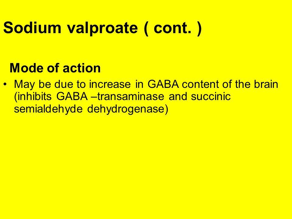 Sodium valproate ( cont. )