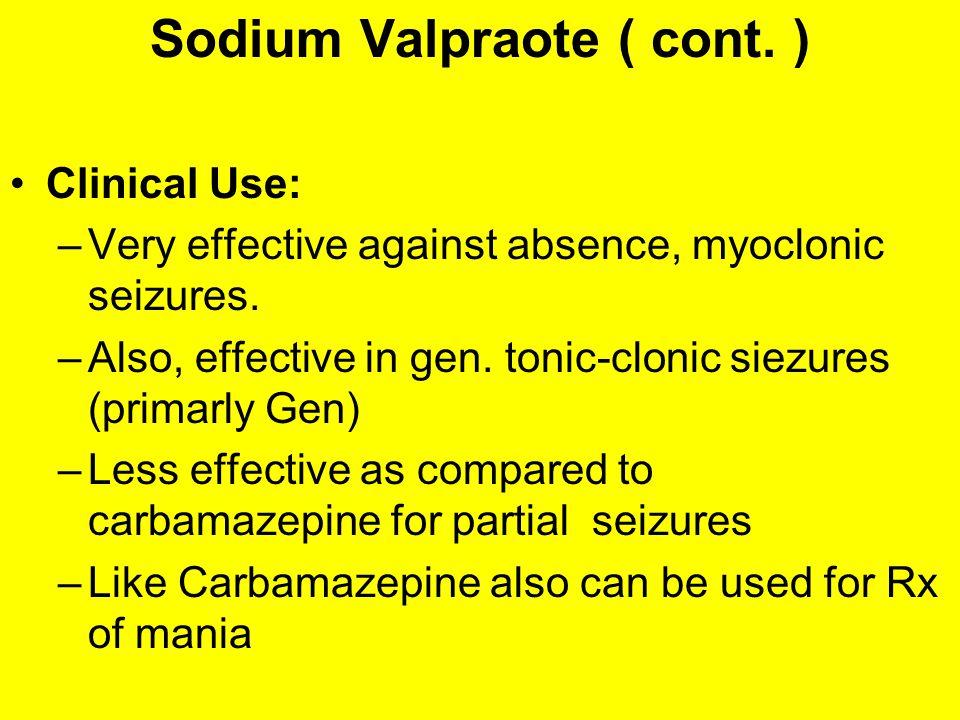 Sodium Valpraote ( cont. )