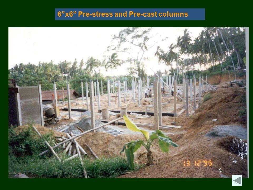 6 x6 Pre-stress and Pre-cast columns