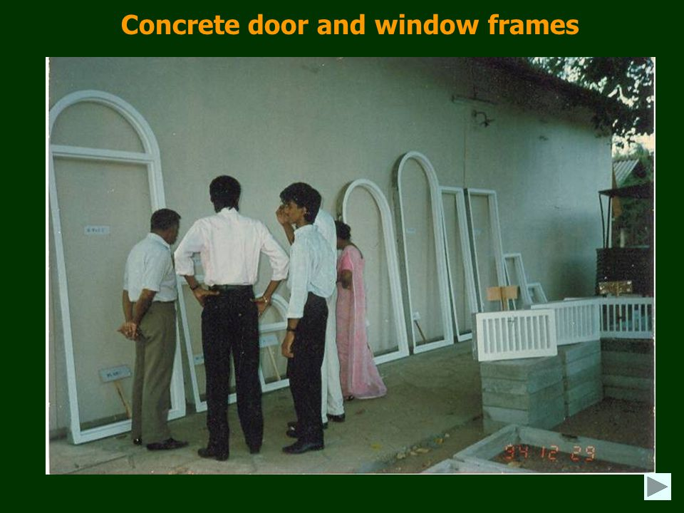 Concrete door and window frames