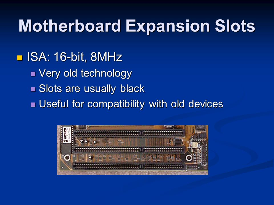 Motherboard Expansion Slots