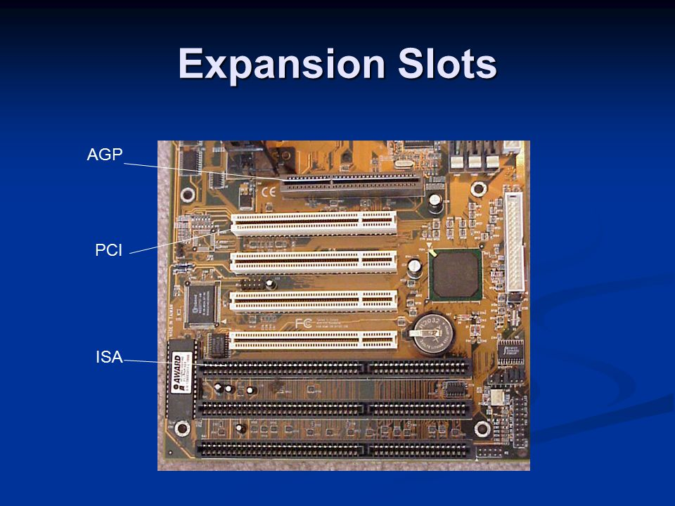 Expansion Slots AGP PCI ISA