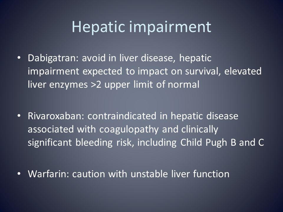 Hepatic impairment