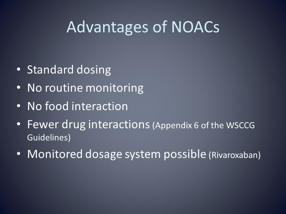 Advantages Of Internet Monitor System : New oral anticoagulants noacs dabigatran and rivaroxaban
