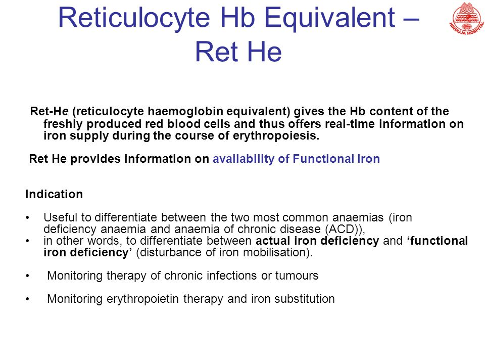 Reticulocyte Hb Equivalent – Ret He