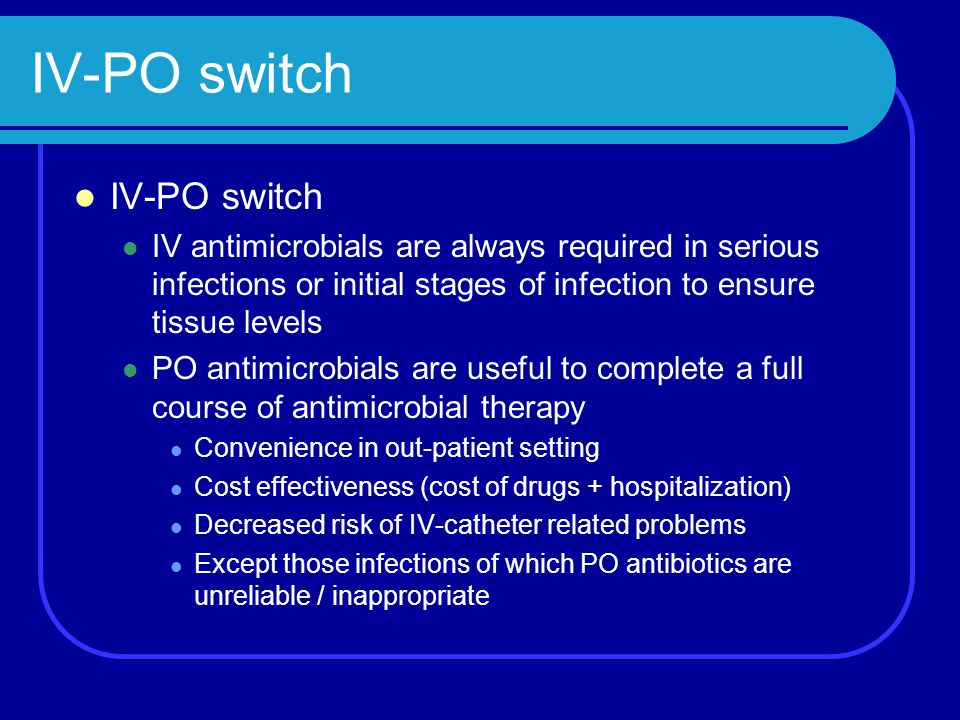 IV-PO switch IV-PO switch
