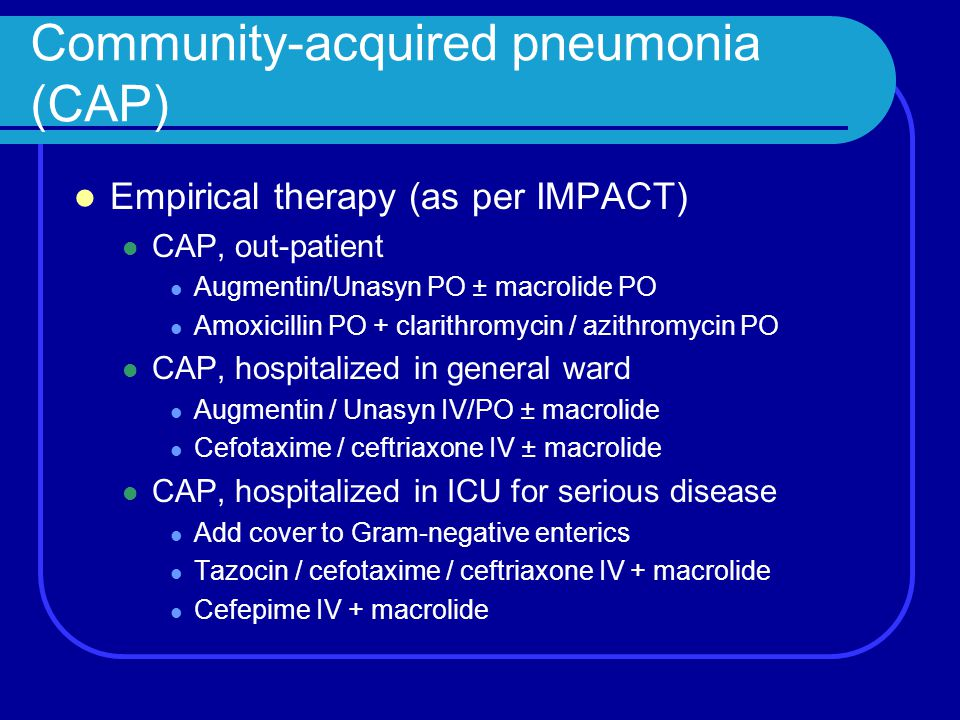 Community-acquired pneumonia (CAP)