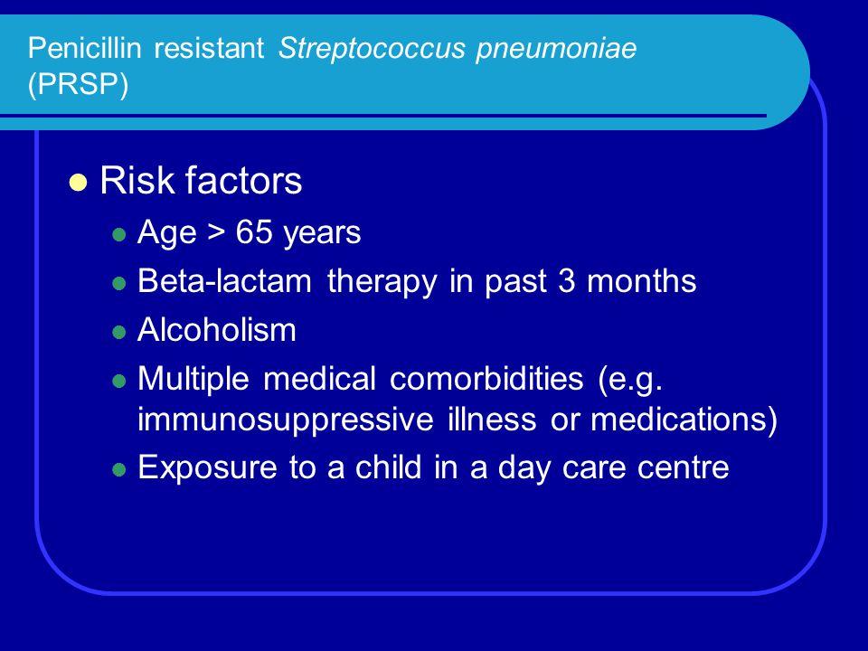 Penicillin resistant Streptococcus pneumoniae (PRSP)