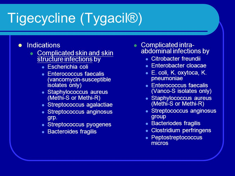 Tigecycline (Tygacil®)