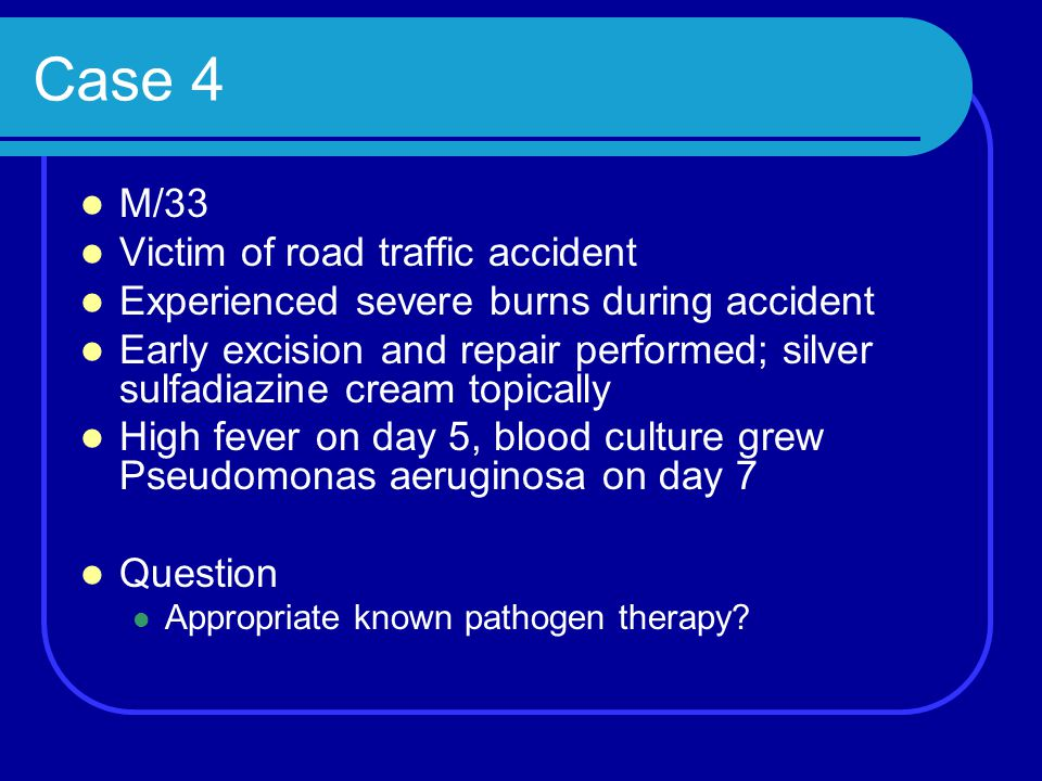 Case 4 M/33 Victim of road traffic accident