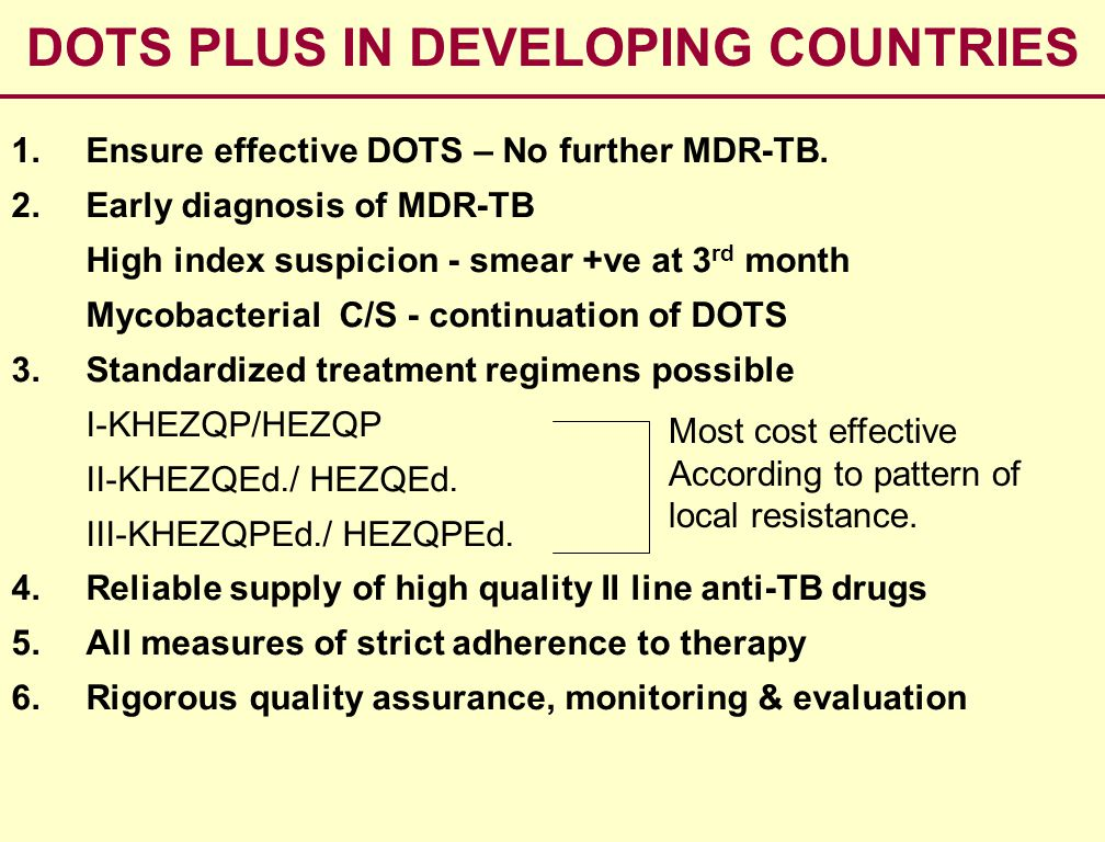 DOTS PLUS IN DEVELOPING COUNTRIES