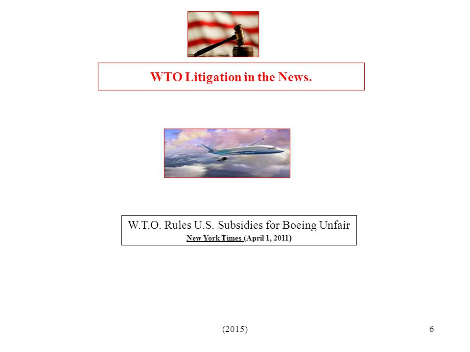 WTO Litigation in the News.