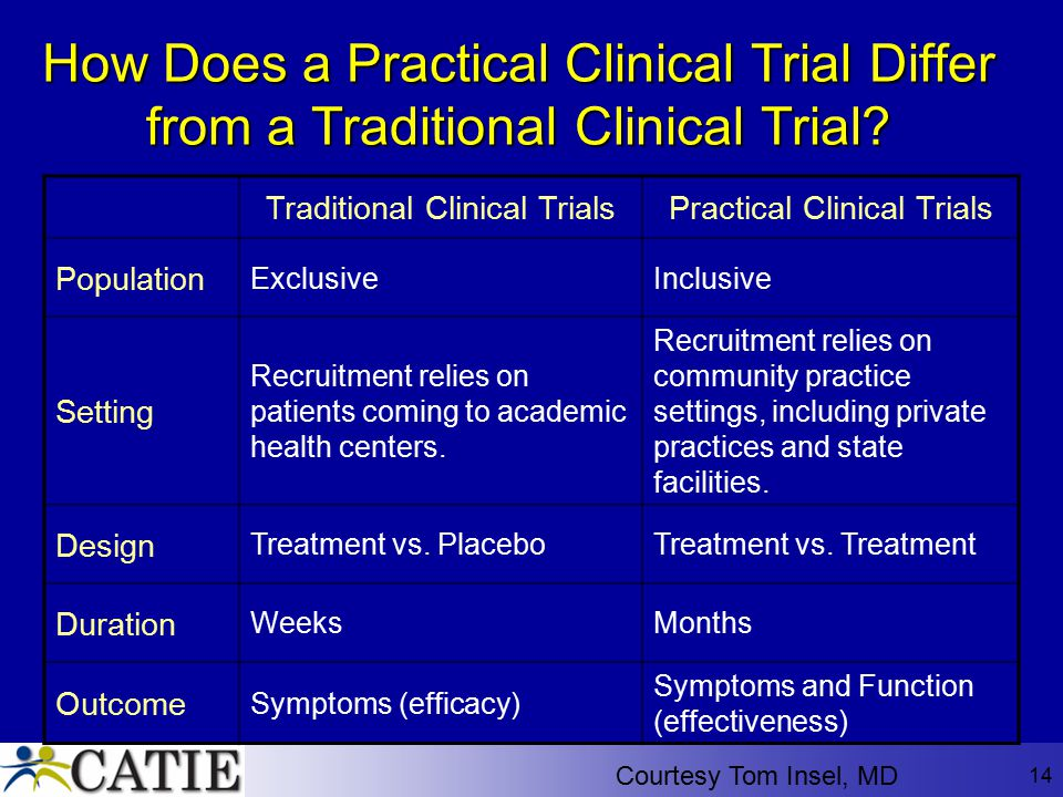 How Does a Practical Clinical Trial Differ from a Traditional Clinical Trial