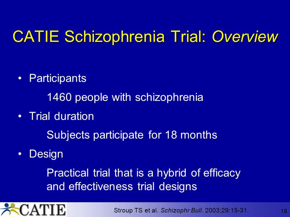 CATIE Schizophrenia Trial: Overview