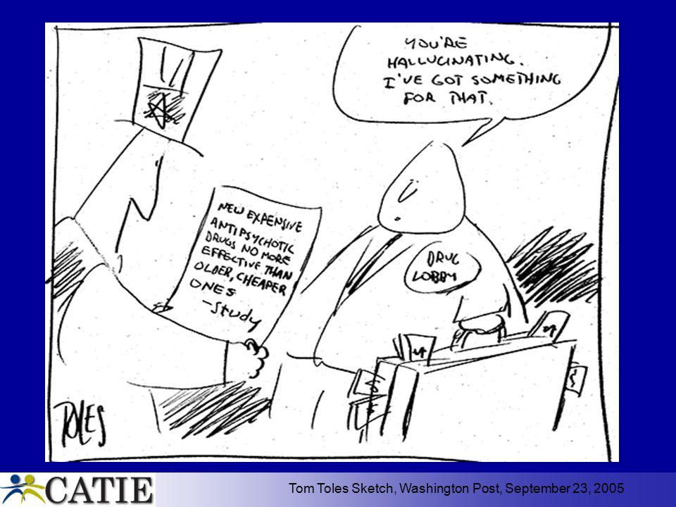 Tom Toles Sketch, Washington Post, September 23, 2005
