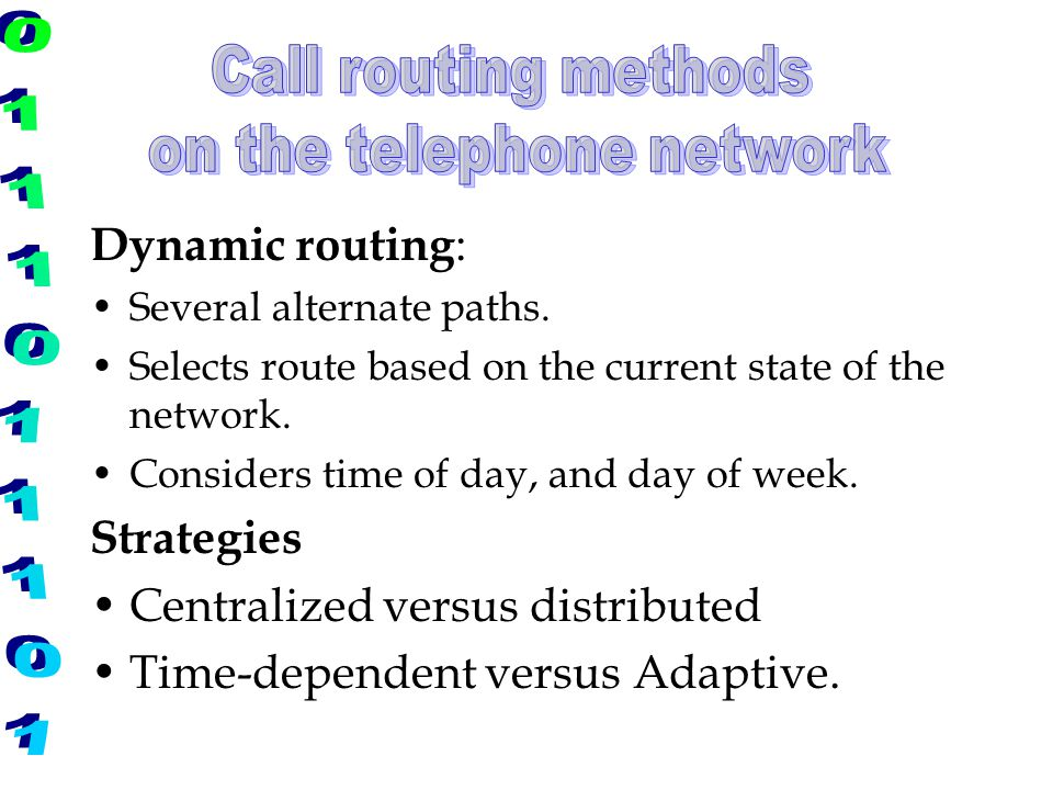 on the telephone network