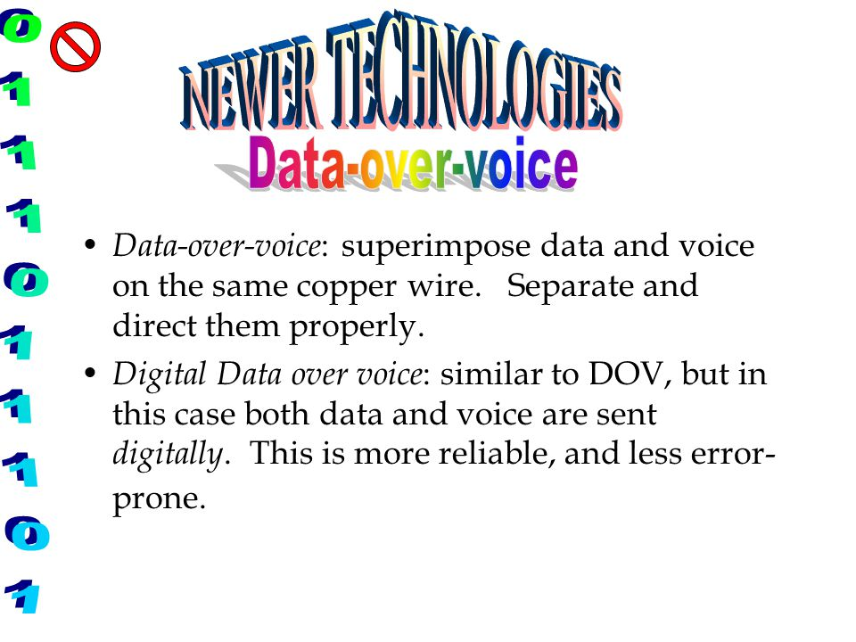 NEWER TECHNOLOGIES Data-over-voice