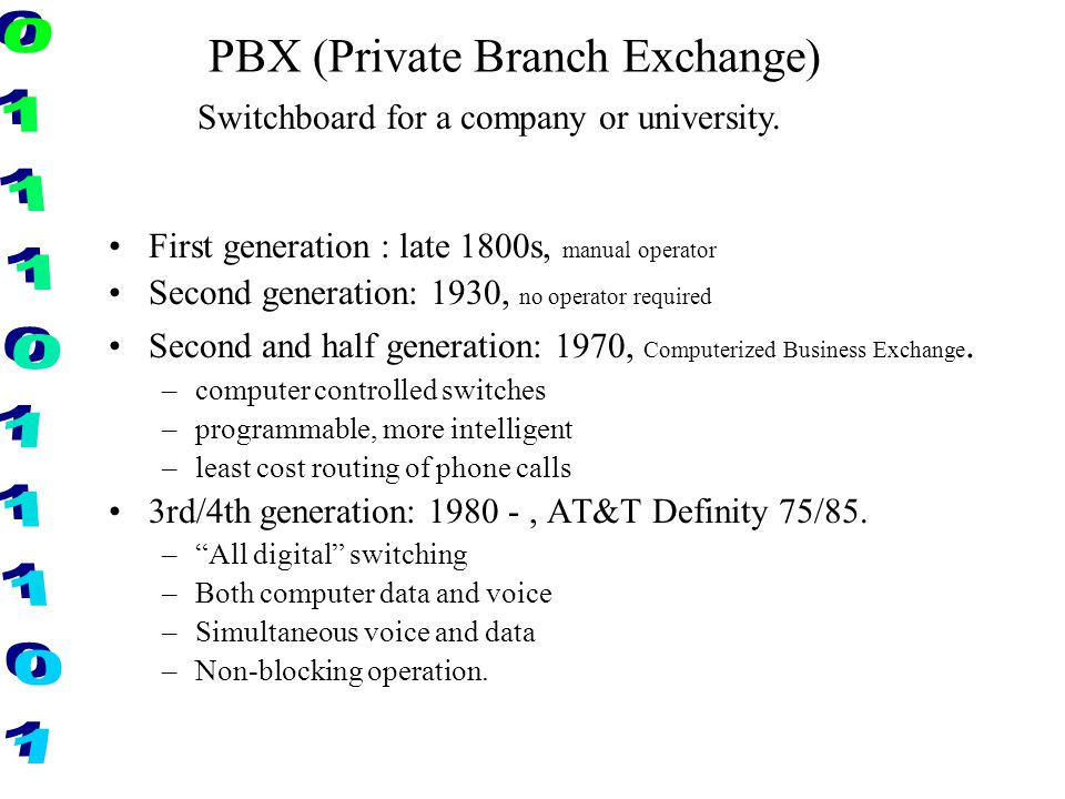 PBX (Private Branch Exchange)
