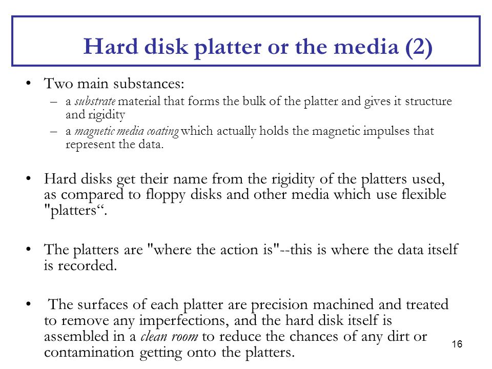 Hard disk platter or the media (2)