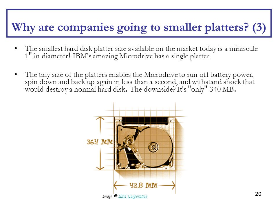 Why are companies going to smaller platters (3)