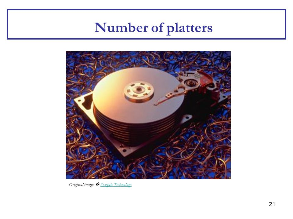 Number of platters Original image � Seagate Technology