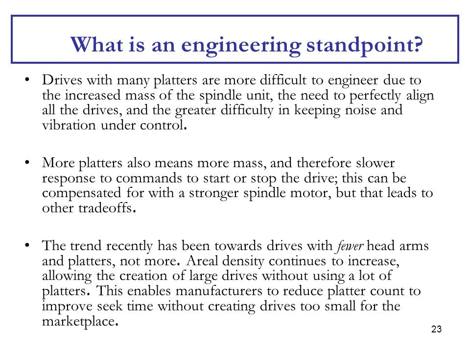 What is an engineering standpoint