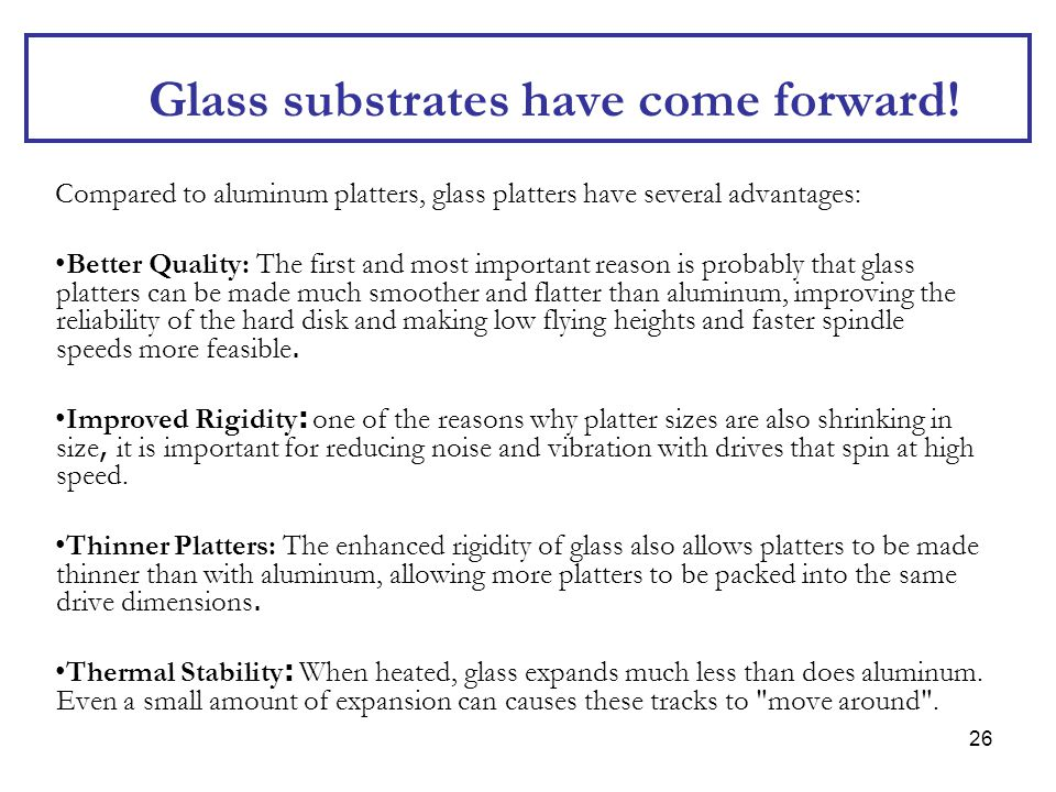 Glass substrates have come forward!