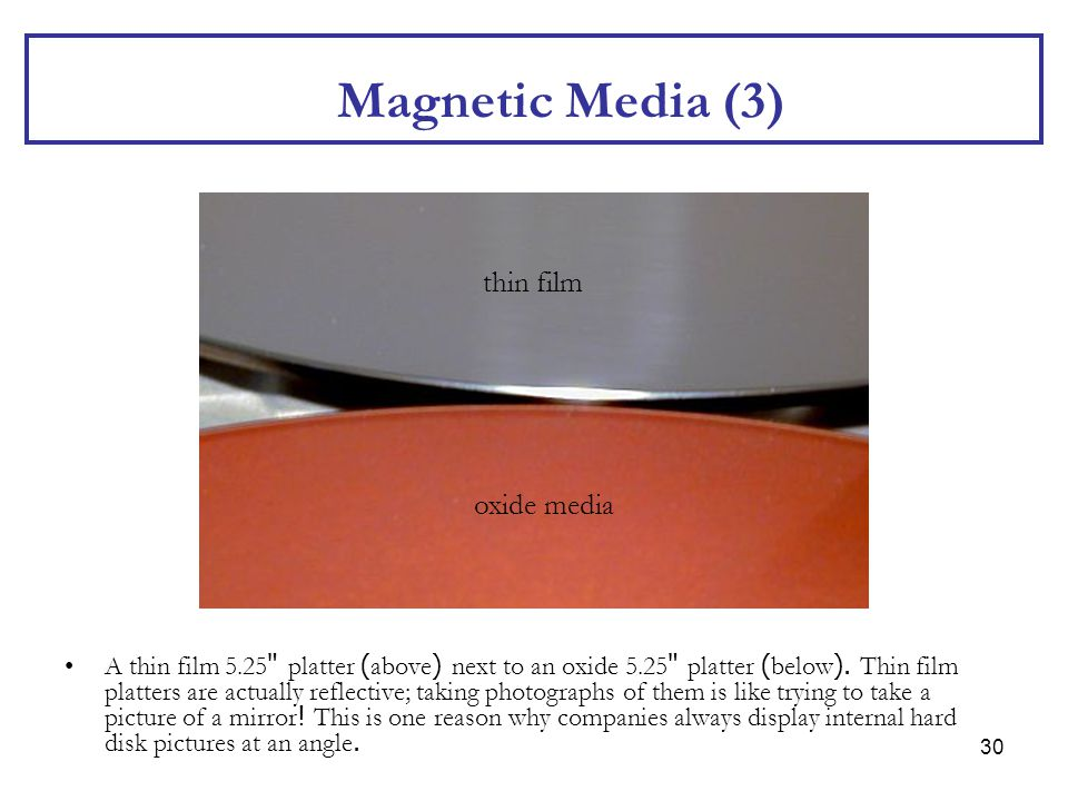 Magnetic Media (3) thin film oxide media