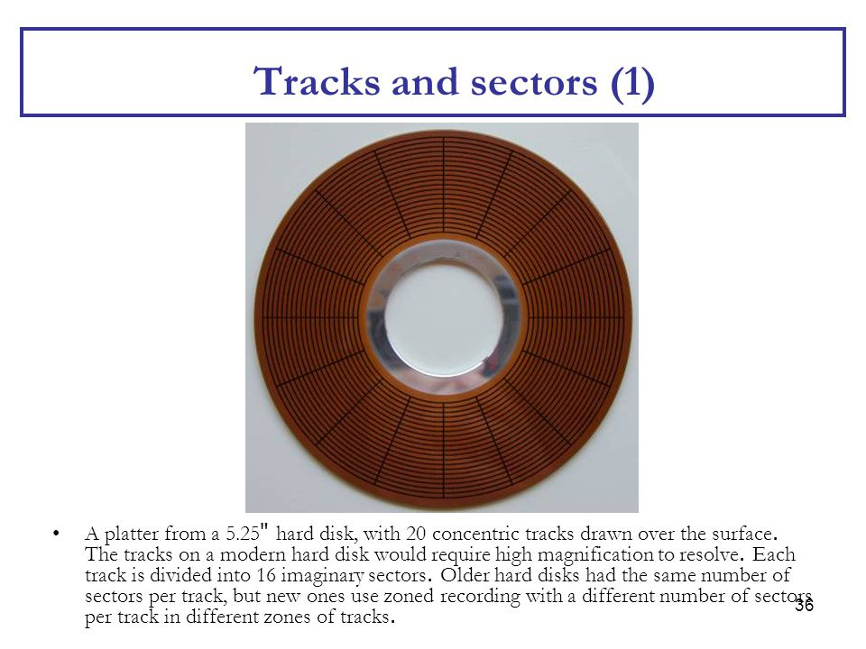 Tracks and sectors (1)