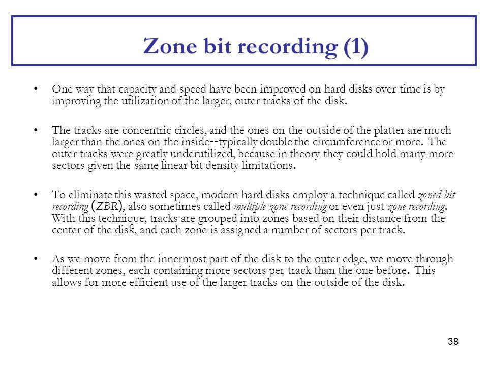 Zone bit recording (1)