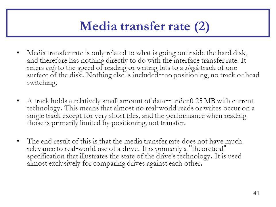 Media transfer rate (2)