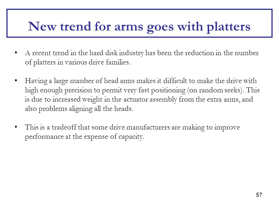 New trend for arms goes with platters