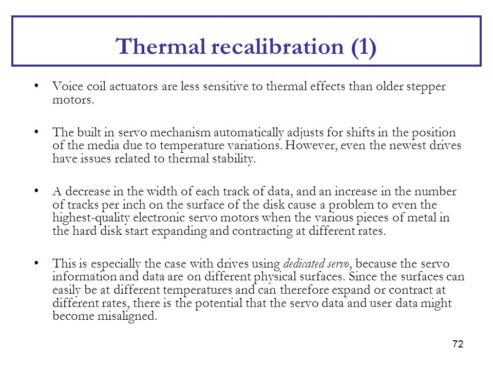 Thermal recalibration (1)