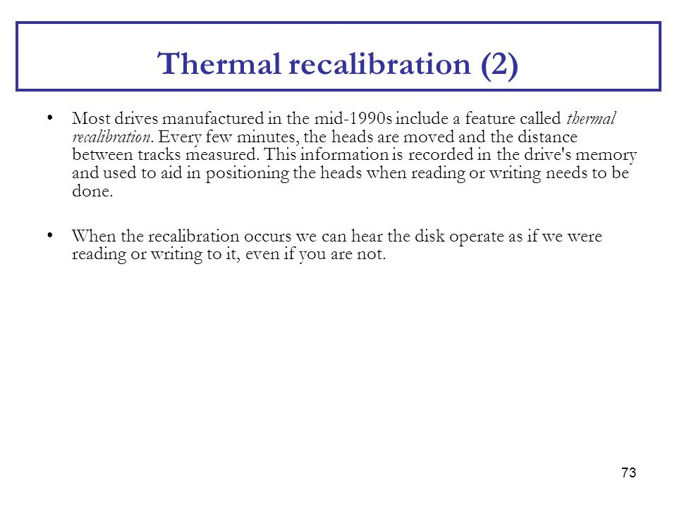 Thermal recalibration (2)