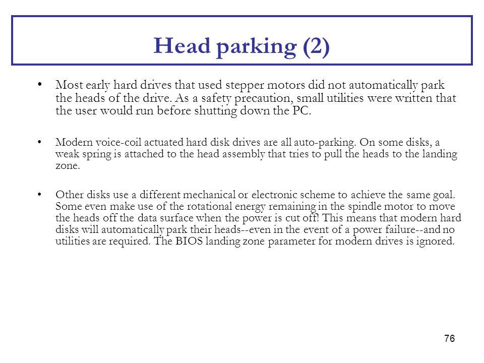 Head parking (2)