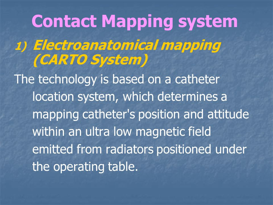 Contact Mapping system