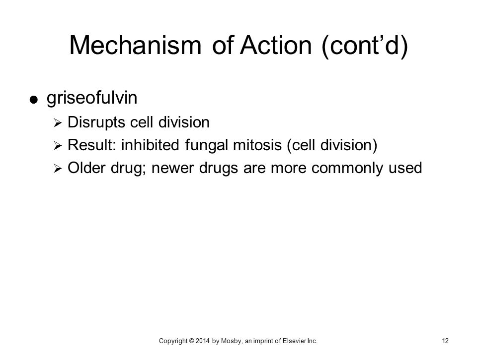 Mechanism of Action (cont'd)