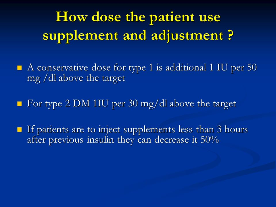 How dose the patient use supplement and adjustment