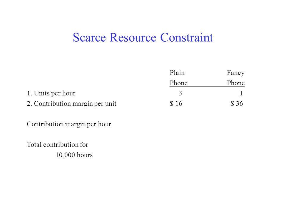 Scarce Resource Constraint