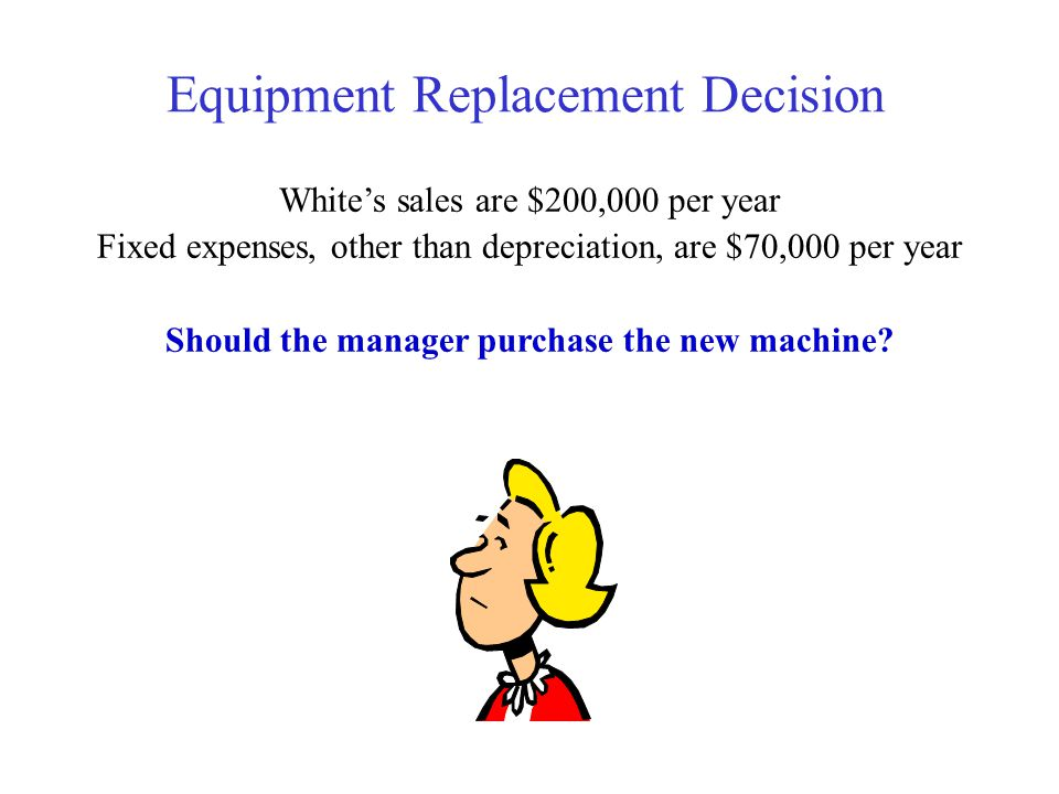 Should the manager purchase the new machine