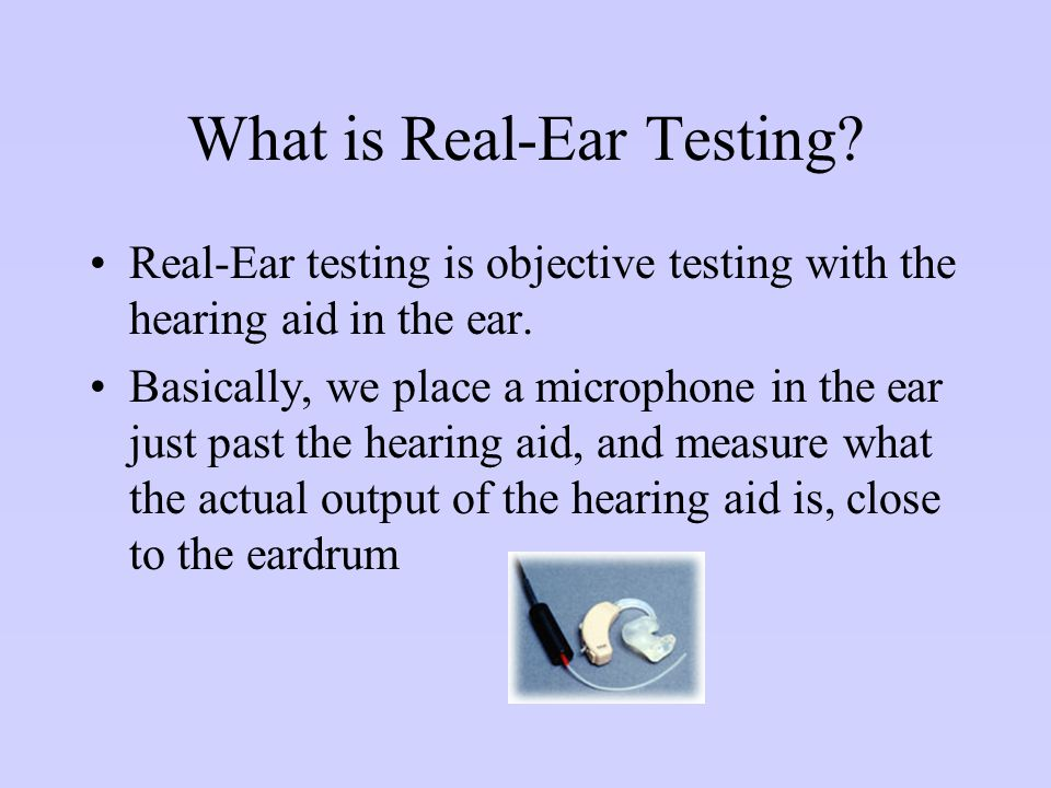 What is Real-Ear Testing