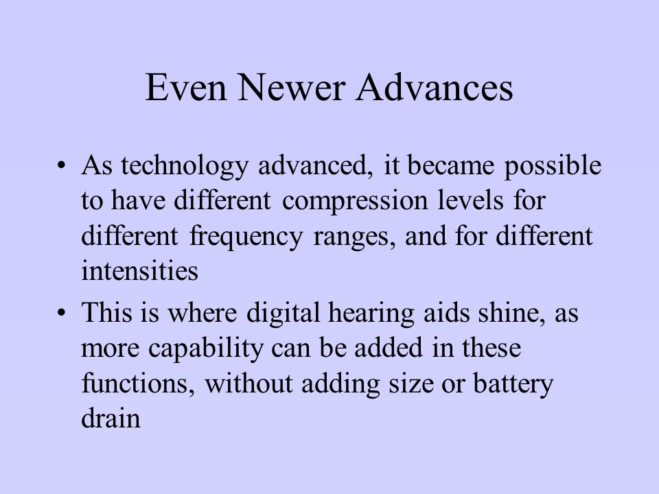 Even Newer Advances