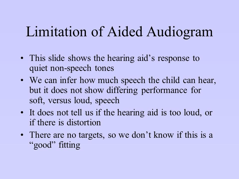 Limitation of Aided Audiogram