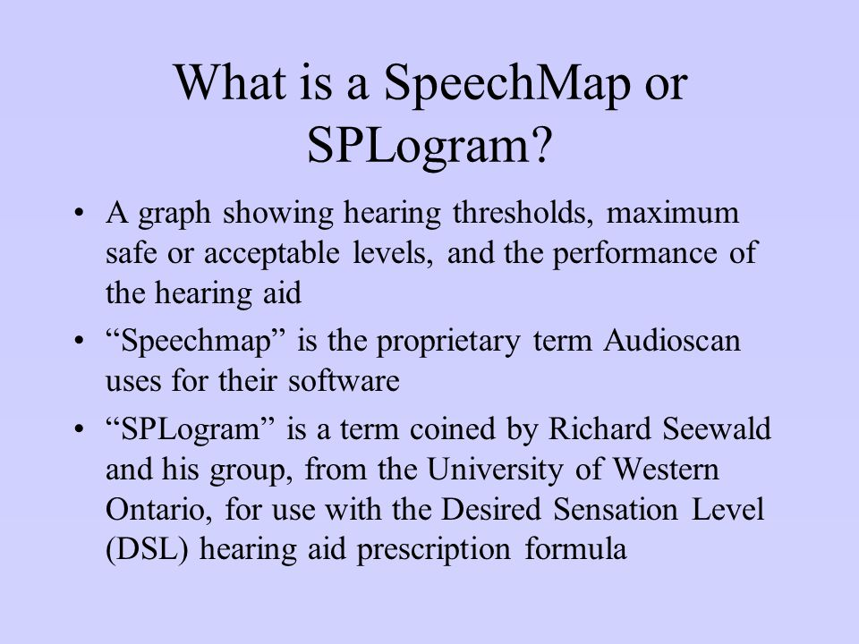What is a SpeechMap or SPLogram