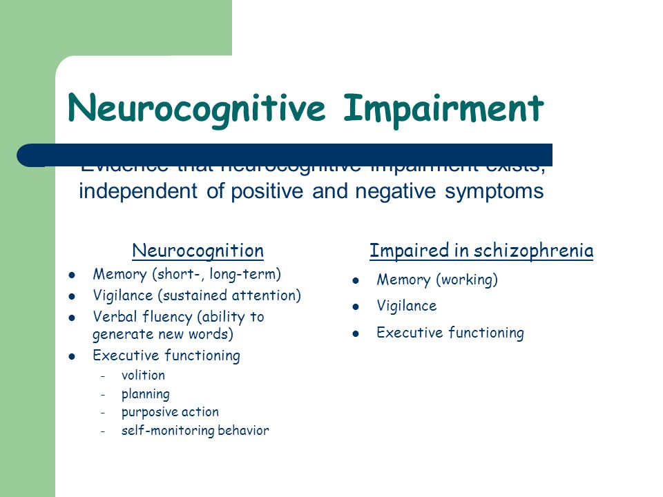Neurocognitive Impairment
