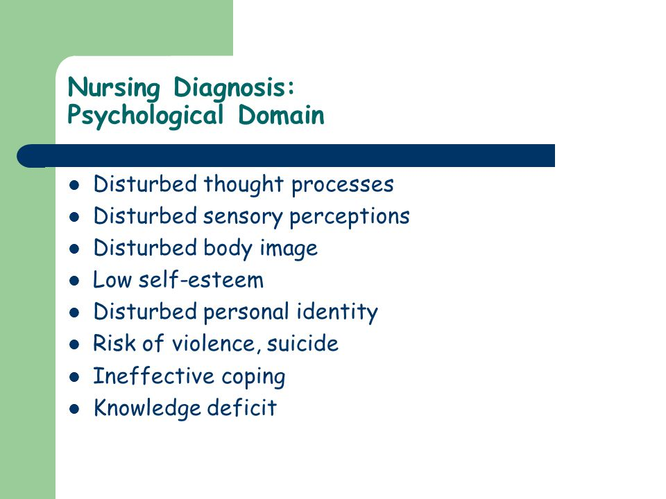 Nursing Diagnosis: Psychological Domain