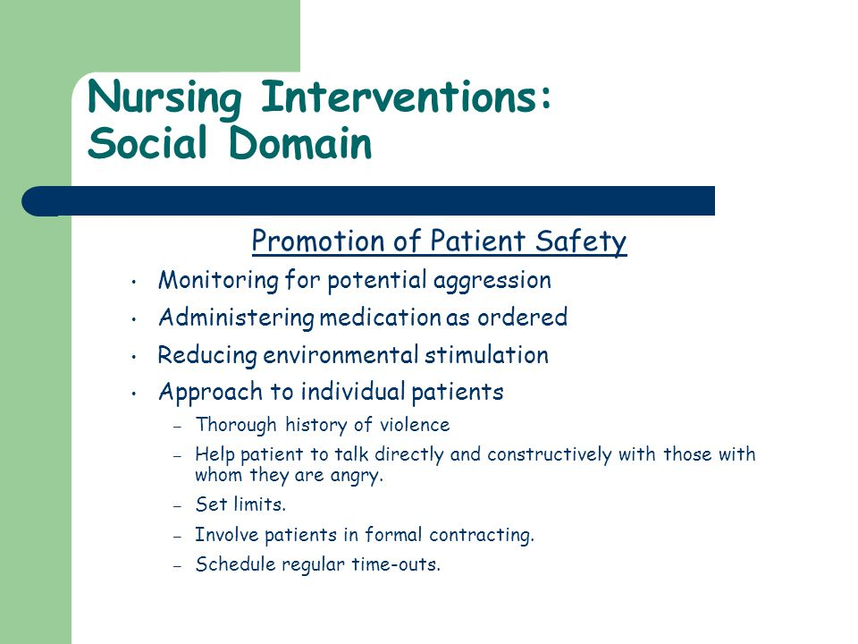 Nursing Interventions: Social Domain