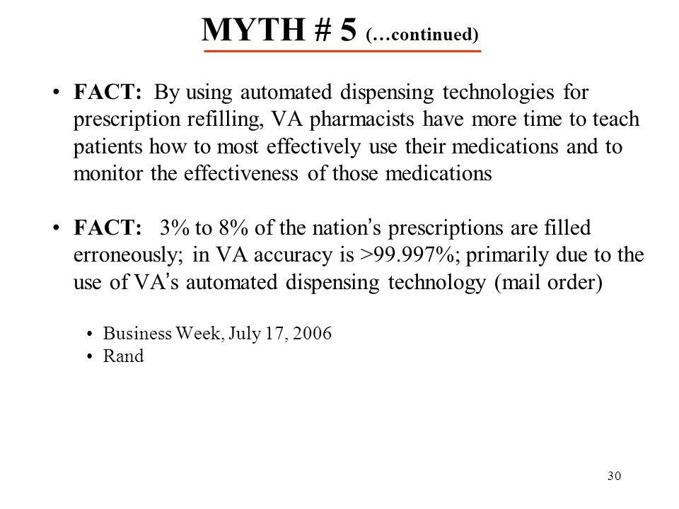 MYTH # 5 (…continued)