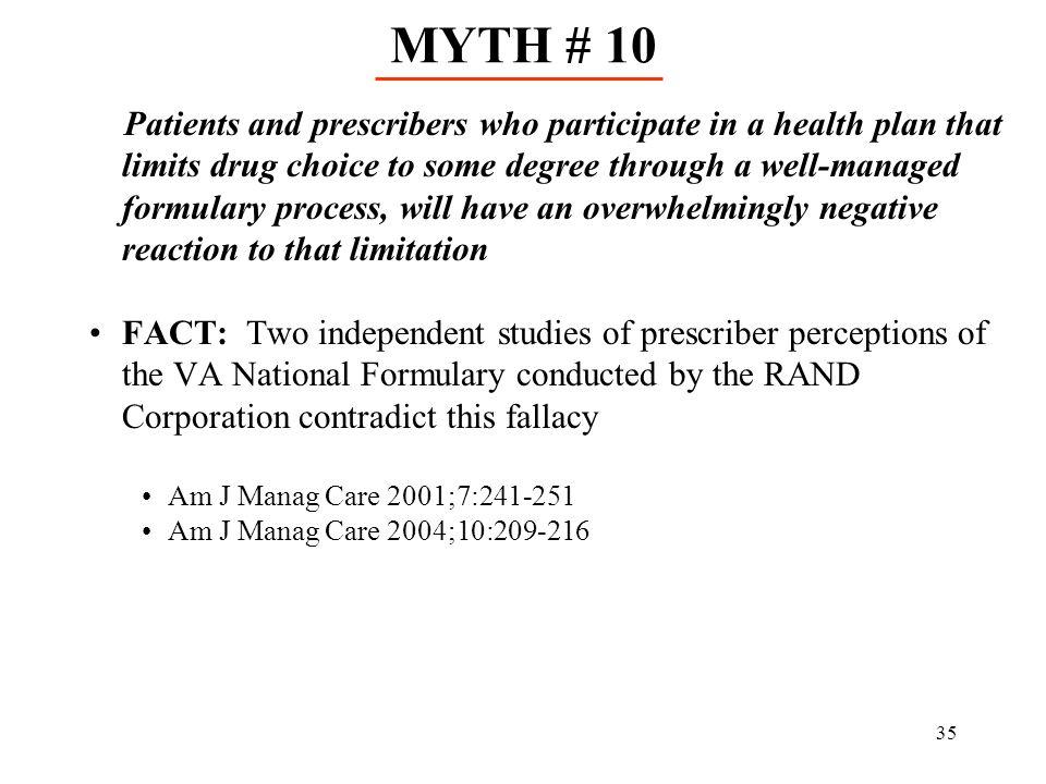 MYTH # 10
