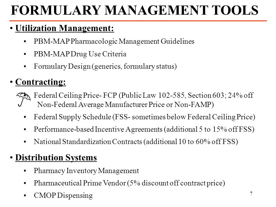 FORMULARY MANAGEMENT TOOLS